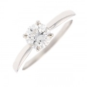 Solitaire diamant 0.94 carat en or blanc
