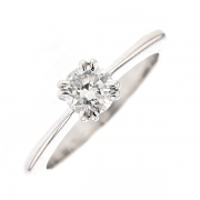 Solitaire diamant 0.63 carat en or blanc