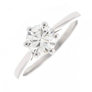 Solitaire diamant 1.07 carat en or blanc