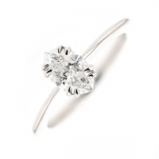 Solitaire diamant 0.98 carat en or blanc