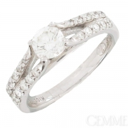 Solitaire Diamant 0.83  carat Or Blanc