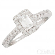 Solitaire Or Blanc Diamants 0.88  carat