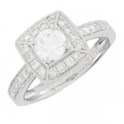 Solitaire Diamants 0.87  carat Or Blanc