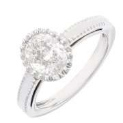 Bague solitaire diamant 1,5 carat en or blanc
