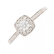 Solitaire diamants 0.41 carat en or blanc