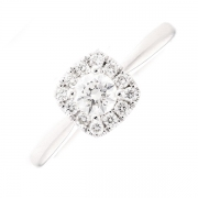 Solitaire diamants 0.48 carat en or blanc