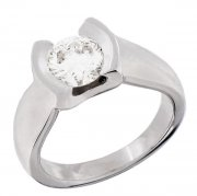 Solitaire diamant 1,26 carat en or blanc