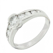 Solitaire diamants 0,75 carat en or blanc