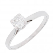 Bague solitaire diamant 0,40 carat en or blanc