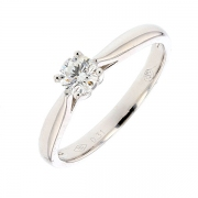 Bague solitaire diamant 0,30 carat en or blanc