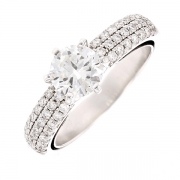 Solitaire diamants 1.12 carat en or blanc