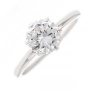 Bague solitaire diamant 1.25 carat en or blanc