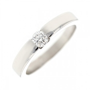 Bague solitaire diamant 0.26 carat en or blanc