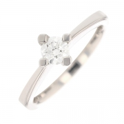 Bague solitaire diamants 0.30 carat en or blanc