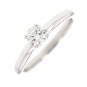 Bague solitaire diamant 0.30 carat en or blanc