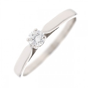 Bague solitaire diamant 0.25 carat en or blanc
