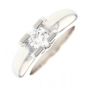 Bague solitaire diamant 0.65 carat en or blanc