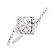 Solitaire diamants 0.46 carat en or blanc