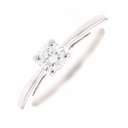 Solitaire diamant 0.37 carat en or blanc