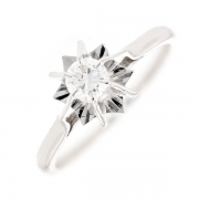 Solitaire diamant 0.25 carat en or blanc