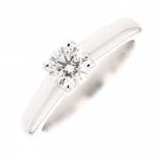 Solitaire diamant 0.61 carat en or blanc