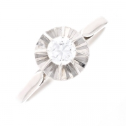 Solitaire diamant 0.35 carat en or blanc
