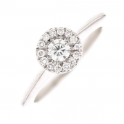 Solitaire diamants 0.35 carat en or blanc