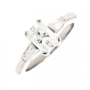 Solitaire diamants 1.22 carat en or blanc