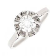 Solitaire diamant 0.50 carat en or blanc