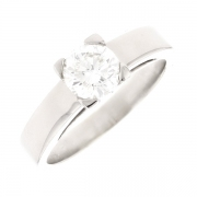 Solitaire diamant 0.75 carat en or blanc