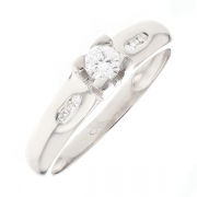 Solitaire diamants 0.23 carat en or blanc