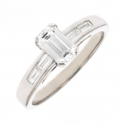 Solitaire diamants 0.80 carat en or blanc