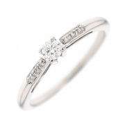 Bague solitaire sign?e MAUBOUSSIN diamants 0.15 carat en or blanc