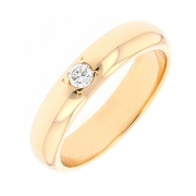 Bague solitaire diamant 0.10 carat en or jaune