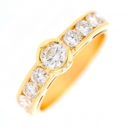 Solitaire diamants 1.39 carat en or jaune