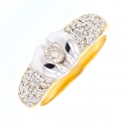 Solitaire diamants 0.25 carat en or bicolre