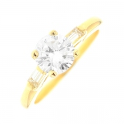 Solitaire diamants 1.10 carat en or jaune