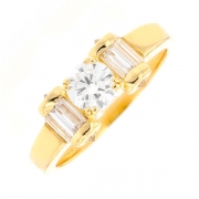Solitaire diamants 0.75 carat en or jaune