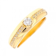 Solitaire diamants 0.25 carat en or jaune