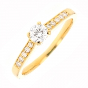 Solitaire diamants 0.35 carat en or jaune