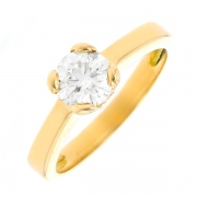 Solitaire diamant 0.95 carat en or jaune