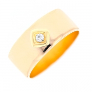 Solitaire diamant 0.06 carat en or jaune