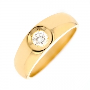 Solitaire diamant 0.25 carat en or jaune