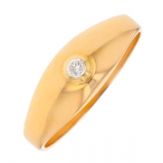 Solitaire diamant 0.03 carat en or jaune