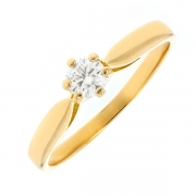 Solitaire diamant 0.22 carat en or jaune