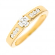 Solitaire diamants 0.45 carat en or jaune