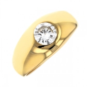 Solitaire diamant 0.60 carat en or jaune