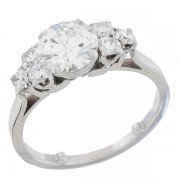 Solitaire diamants 1,71 carat en platine