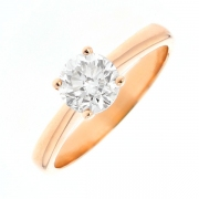 Solitaire diamant 0.90 carat en or rose