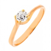 Solitaire diamant 0.30 carat en or rose